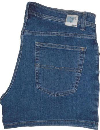 Pioneer Rando Stretch Jeans Shorts kurz 9733.05.1330 stone / mittelblau – Bild 2