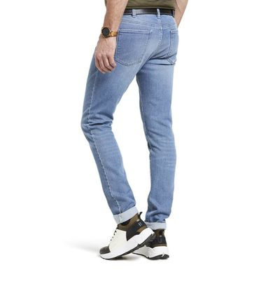 M 5 BY MEYER  Herren Stretch Jeans M5 Skinny 6221/15 Light-Stone-Used – Bild 2