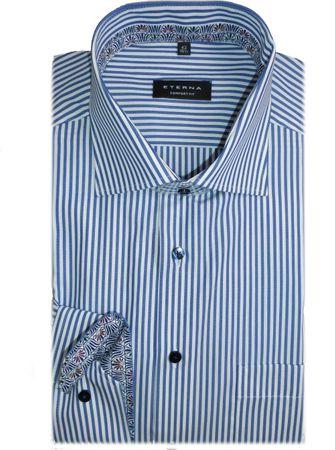 eterna Hemd Comfort Fit blau/weiß gestreift 3206/17 E95K extra langer Arm 72 cm – Bild 2