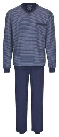 Ammann Schlafanzug Pyjama Langarm 7557 523 blau gestreift – Bild 1
