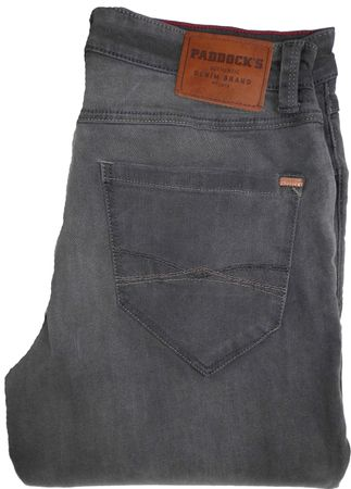 Paddocks Stretch Jeans Ben extra lang 80144 3906 1002 grau / grey moustache used – Bild 1