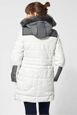 Cecil Steppjacke Outdoormantel Damen off pure weiss Art100538 white n0wPkN8OX