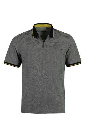 hajo Poloshirt Pique Stay Fresh  Kurzarm Shirt 26647 100 schwarz gemustert