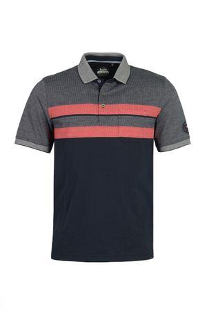 hajo Poloshirt Stay Fresh Kurzarm Shirt 26632 609 blau / rot gestreift