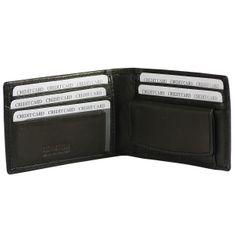 LINDENMANN klassik G.CHABROLLE Portemonnaie / Geldbeutel Herren, Rindleder genarbt, quer, schwarz – Bild 2