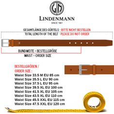 Ledergürtel Damen / Herren The Art of Belt casual unisex, 90033 schwarz – Bild 4