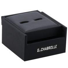 Manschettenknöpfe G.CHABROLLE, silberfarben / Perlmutt, im Etui, 379 – Bild 3