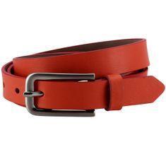 LINDENMANN The Art of Belt Ledergürtel Damen / Gürtel Damen, Nappaledergürtel, rot – Bild 1