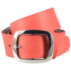LINDENMANN The Art of Belt Damen Ledergürtel / Gürtel Damen, Nappaleder mit Doppelstegschließe, rot – Bild 1