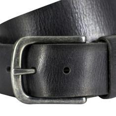 LINDENMANN The Art of Belt Ledergürtel Damen / Ledergürtel Herren, Vollrindleder, Unisex, schwarz – Bild 2