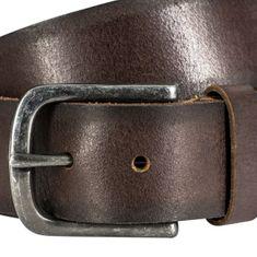 LINDENMANN The Art of Belt Ledergürtel Damen / Ledergürtel Herren, Vollrindleder, Unisex, dunkelbraun – Bild 2
