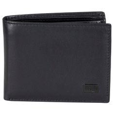 MANO Portemonnaie / Geldbeutel Herren, CERTO Mini-Scheintasche Rindleder Datenschutz mit Cryptalloy, Geldbeutel, quer, schwarz – Bild 1