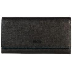 MANO Portemonnaie / Geldbeutel Damen, CONVENTUS Geldbörse lang, Rindleder Geldbeutel, schwarz – Bild 1