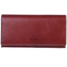 MANO Portemonnaie / Geldbeutel Damen, CONVENTUS Geldbörse lang, Rindleder Geldbeutel, rot – Bild 1