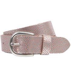 LINDENMANN The Art of Belt Ledergürtel Damen / Gürtel Damen, Rindledergürtel mit Metallic-Effekt, old pink – Bild 1