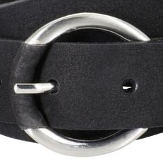 BRAX Ledergürtel Damen / Gürtel Damen, Nubuk-Ledergürtel, schwarz – Bild 3