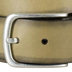LINDENMANN The Art of Belt Ledergürtel Herren / Gürtel Damen unisex, Vollrindleder, oliv – Bild 4