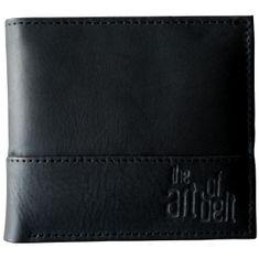 LINDENMANN The Art of Belt Portemonnaie / Geldbeutel Herren, Rindleder glatt, quer, schwarz  – Bild 1