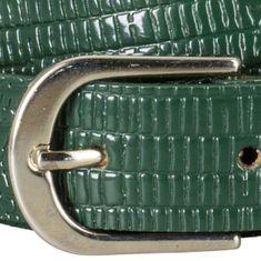 LINDENMANN Ledergürtel Damen / Gürtel Damen, Rindleder mit Kroko-Prägung, grün – Bild 4