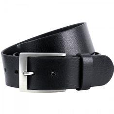LINDENMANN Ledergürtel Herren / Gürtel Herren, Vollrindleder XL, in 2 Farben, schwarz / dunkelbraun – Bild 1