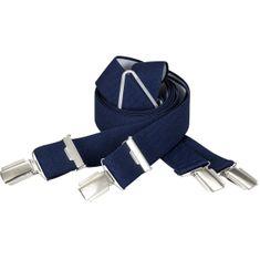 LINDENMANN Hosenträger Herren, X-Form, 30 mm, Stretch, XXL, dunkelblau, 9157-922 – Bild 1