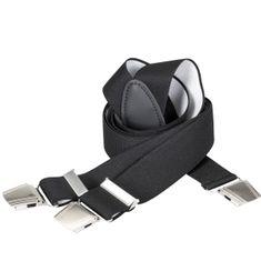 LINDENMANN Hosenträger Herren, Y-From mit starkem Clip, 35 mm, Stretch, XXL, schwarz, 9173-507 – Bild 1