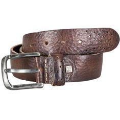 LINDENMANN The Art of Belt Ledergürtel Damen / Ledergürtel Herren, Premium Vollrindledergürtel mit Ornamenten, Unisex, dunkelbraun – Bild 2