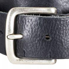 LINDENMANN The Art of Belt Ledergürtel Damen / Ledergürtel Herren, Premium Vollrindledergürtel mit Zierprägung, Unisex, schwarz / natur / dunkelbraun – Bild 7