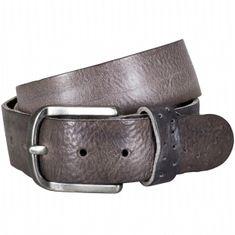 LINDENMANN The Art of Belt Ledergürtel Damen / Ledergürtel Herren, Premium Vollrindledergürtel mit Ornamenten, Unisex, dunkelbraun / grau – Bild 2