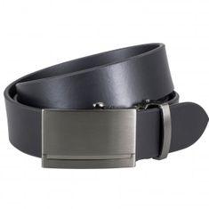 LINDENMANN Ledergürtel Herren / Gürtel Herren, Rindleder-Gürtel mit Automatik-Koppelschließe, schwarz – Bild 1