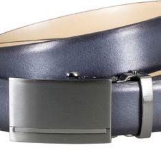 LINDENMANN Ledergürtel Herren / Gürtel Herren, Rindleder-Gürtel mit Automatik-Koppelschließe, in 3 Farben, anthrazit / cognac / dunkelblau – Bild 19