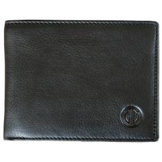 LINDENMANN Herren Portemonnaie / Geldbeutel Herren, Rindleder matt, quer, schwarz – Bild 1