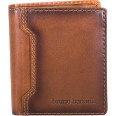 Bruno Banani Portemonnaie / Geldbeutel Herren, DERBY buff leather Geldbörse, Geldbeutel, Scheintasche hoch mit Klappe, echt Leder, coganc – Bild 1