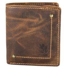 OTTO KERN Herrenbörse / Geldbeutel Herren, Vintage Geldbörse, Geldbeutel hoch mit Überschlag, echt Leder, braun – Bild 1