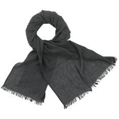 LINDENMANN Herren Schal Sommer / 100% Baumwolle, Herrenschal, schwarz-grau – Bild 1
