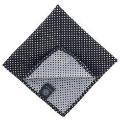 LINDENMANN Einstecktuch / Ziertuch für Herren, schwarz-silber