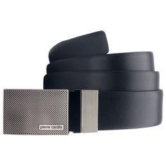 Pierre Cardin Ledergürtel Herren / Gürtel Herren, Rindleder 35 mm breit, mit Koppelschließe, reversible schwarz / dunkelbraun – Bild 1