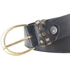 LINDENMANN The Art of Belt Ledergürtel Damen / Gürtel Damen, Vollrindleder Gürtel für Frauen, 35 mm, schwarz – Bild 1
