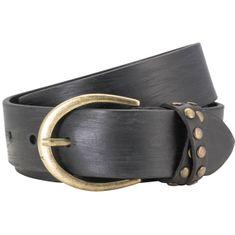 LINDENMANN The Art of Belt Ledergürtel Damen / Gürtel Damen, Vollrindleder Gürtel für Frauen, 35 mm, schwarz – Bild 2
