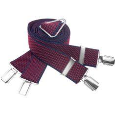 LINDENMANN Hosenträger Herren 35 mm breit, X-Form, Herren-Hosenträger mit 4 Clips, Längenverstellbar, elastisch und flexibel – Bild 1