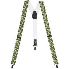 LINDENMANN Hosenträger Herren 35 mm breit, Y-Form mit Lederpaten, Herren-Hosenträger mit 3 geschwärzten Clips, Längenverstellbar, elastisch und flexibel – Bild 2