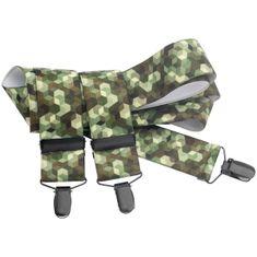 LINDENMANN Hosenträger Herren 35 mm breit, Y-Form mit Lederpaten, Herren-Hosenträger mit 3 geschwärzten Clips, Längenverstellbar, elastisch und flexibel – Bild 1