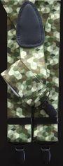 LINDENMANN Hosenträger Herren 35 mm breit, Y-Form mit Lederpaten, Herren-Hosenträger mit 3 geschwärzten Clips, Längenverstellbar, elastisch und flexibel – Bild 3