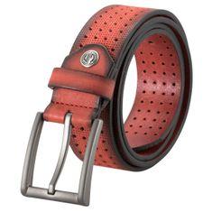 LINDENMANN Ledergürtel Herren / Gürtel Herren, Vollrindledergürtel Herren, 35 mm breit, rot – Bild 1