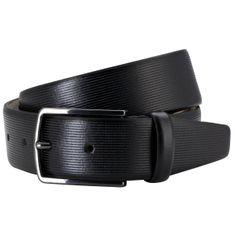 LINDENMANN Ledergürtel Herren / Gürtel Herren, Vollrindledergürtel Herren, 35 mm, schwarz – Bild 2