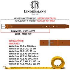 LINDENMANN Ledergürtel Herren / Gürtel Herren, Rindledergürtel Herren, 35 mm breit, schwarz – Bild 3
