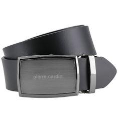 Pierre Cardin Ledergürtel Herren / Gürtel Herren, Rindledergürtel Herren, 40 mm breit, schwarz – Bild 2