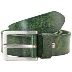 Bruno Banani Ledergürtel Herren / Gürtel Herren, Rindledergürtel Herren, 40 mm breit, grün – Bild 1