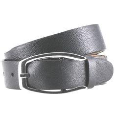 LINDENMANN Ledergürtel Damen / Gürtel Damen, Nappaleder, grau – Bild 1