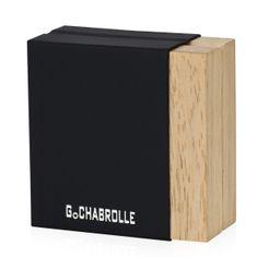 Manschettenknöpfe G.CHABROLLE, Hämatit / Onyx, im Etui 6077 – Bild 2